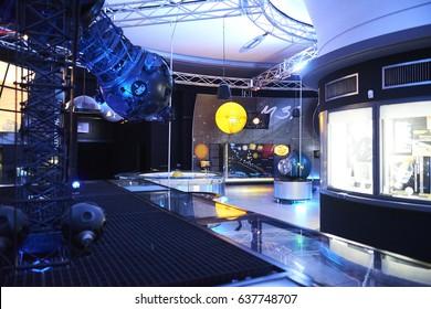 Prague, Czech Republic - May 12, 2013: Exhibition in Planetarium Prague