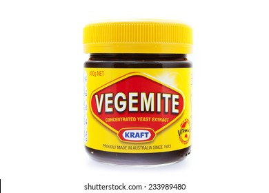 PRAGUE, CZECH REPUBLIC - May 15 2011: A studio shot of a jar of Vegemite. Vegemite is a very popular yeast based spread in Australia.