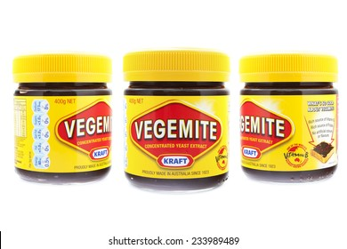 PRAGUE, CZECH REPUBLIC - May 15 2011: A studio shot of a jars of Vegemite. Vegemite is a very popular yeast based spread in Australia.