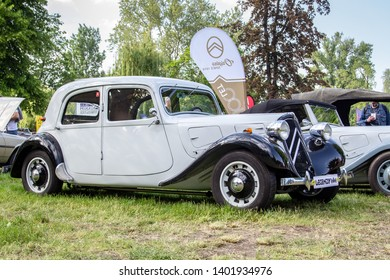 Prague / Czech Republic - May 18th 2019: Citroen Traction Avant (1937) at car show Legendy 2019.