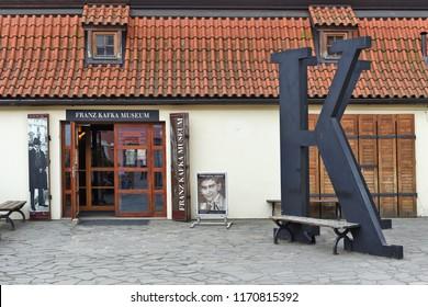 PRAGUE, CZECH REPUBLIC - May 2, 2018: FRANZ KAFKA MUSEUM.