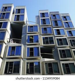 Prague, Czech republic - May 2018: Modern architecture
