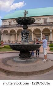 PRAGUE, CZECH REPUBLIC - May 26, 2018: Royal garden of Prague Castle, Summerhouse of Queen Ann in Prague
