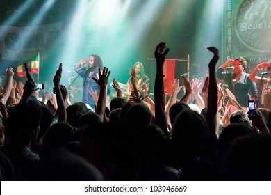 PRAGUE, CZECH REPUBLIC - MAY 30: Famous reggea singer and composer Stephen Marley played his czech premiere performance in absoltelly sold-out Lucerna Music Bar in Prague on May 30, 2012.