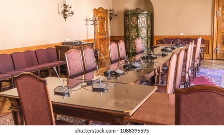 Prague, Czech Republic - May 8, 2018  Cabinet for lawmakers Senate of the Parliament of the Czech Republic - Open Day