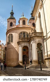 PRAGUE, CZECH REPUBLIC - May 9, 2020:  Chapel of the Assumption of the Virgin Mary at Clementinum