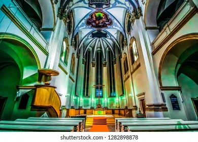 Prague / Czech Republic - November 2018:  St. Salvator Church is one of two churches that form the Klementinum, the largest and most historic complex of buildings in the Old Town in Prague