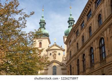 PRAGUE, CZECH REPUBLIC - OCTOBER 09, 2018: Church of St. Havel