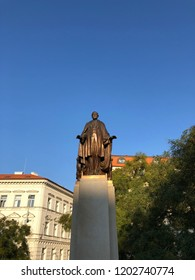 PRAGUE, CZECH REPUBLIC - OCTOBER 11, 2018: Statue of Woodruff Wilson