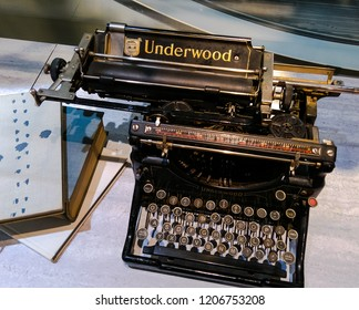 Prague, Czech Republic October 13, 2018 - Antique Manual Typewriter