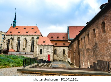 Prague, Czech Republic - October 8, 2017: Convent of Saint Agnes of Bohemia.
