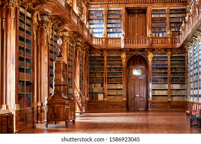 Prague Czech Republic. The old library at Strahov monastery. Prague Czech Republic July 2019