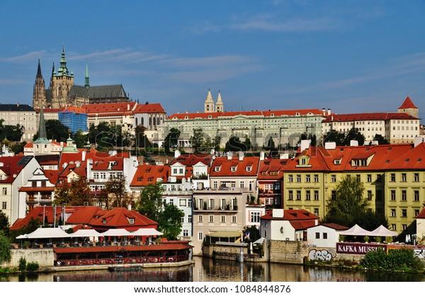PRAGUE, CZECH REPUBLIC – SEPTEMBER 10, 2015: View of Prague Castle