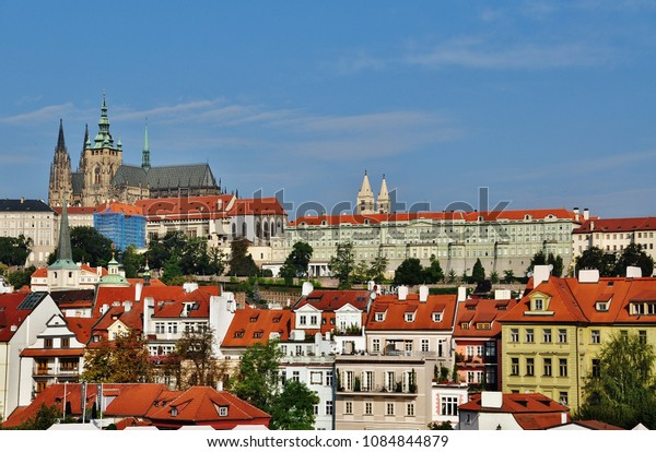 PRAGUE, CZECH REPUBLIC – SEPTEMBER 10, 2015: View of Prague Castle