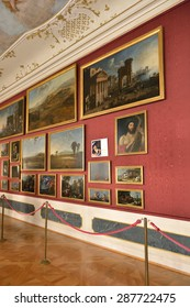 PRAGUE, CZECH REPUBLIC - SEPTEMBER 27, 2014:Nostitz Palace was residence of noble family of Nostitz-Rieneck.There was renowned Nostitz Picture Gallery since 1736 and it became part of National Gallery