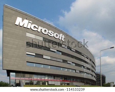 PRAGUE, CZECH REPUBLIC - SEPTEMBER 5: Microsoft Corporation headquarter, September 5, 2012 in Prague, Czech republic. Microsoft announces new Windows phone in cooperation with Nokia.