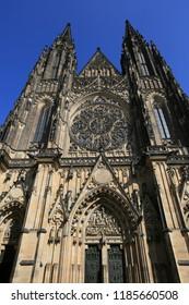 Prague, Czech Republic, St. Vitus Gothic Catholic Cathedral in Prague Castle