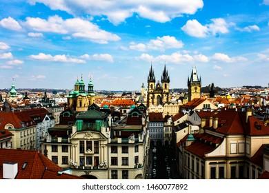 Prague,  Czech Republic, View of Prague from Clementinum
