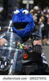 Prague, Czech Republic-06 10 2017: Harley Davidson motorcycle show, driving through the streets of Prague.