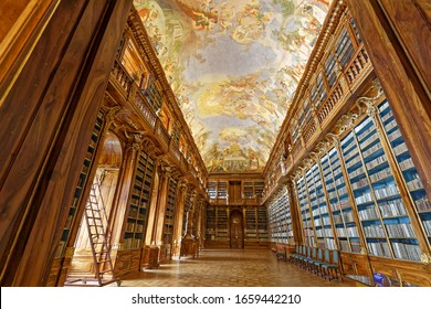 Prague, Czech Republic-May 10,2019 Residence Monastery contain beautiful library and museum. Everybody can take photos after donation.