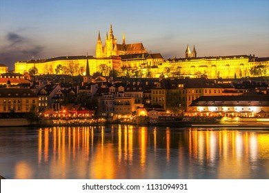 Prague / Czech RepublicPicturesque - May 01 2017: Charles Bridge in Prague, Czech Republic. A well-known tourist and historical attraction. Medieval architecture of Europe