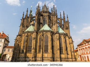 Prague, Czech-August 10, St. Vitus Cathedral in Prague, August 10.2015 in Prague, Czech Republic