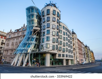 Prague, Czech-August 11, the Dancing House in Prague, August 11.2015 in Prague, Czech Republic