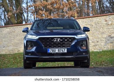 Prague, Czechia, 11-29-2019, Hyundai Santa Fe. Main view.