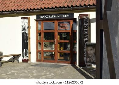 PRAGUE, CZECHIA - JULY 1, 2018: Franz Kafka Museum in Prague