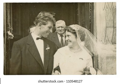 PRAGUE, CZECHOSLOVAK REPUBLIC, CIRCA 1955 - wedding day - circa 1955