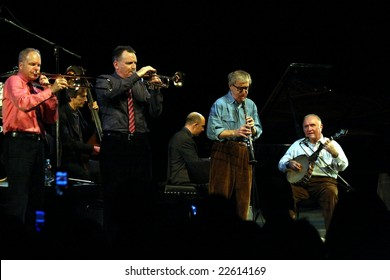PRAGUE - DECEMBER 20: Woody Allen and his New Orleans Jazz Band playing in the Congress Centre, December 20, 2008 in Prague, Czech Republic
