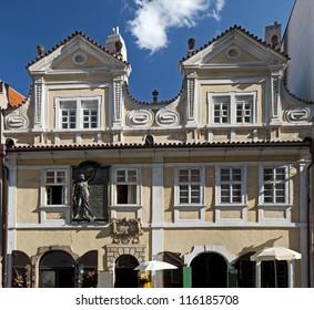 Prague - Jan Neruda's childhood place in Lesser Town, Neruda Street (Nerudova Ulice) - Shutterstock ID 116185708