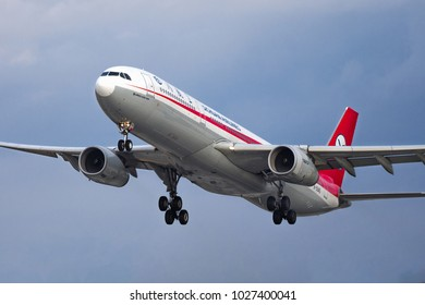 PRAGUE - January 20, 2018: Sichuan Airlines Airbus A330 take off from Vaclav Havel Airport Prague (PRG) January 20, 2018 in Prague, Czech Republic