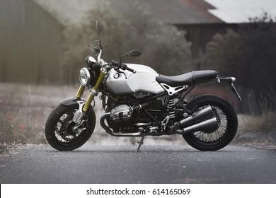 PRAGUE - July 14: BMW R NineT motorbike, July 14, 2016 in Prague, Czech Republic.