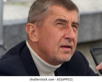 PRAGUE - MAY 1, 2017: Minister of Finance of Czech republic Andrej Babis at a May day meeting with citizens