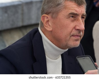 PRAGUE - MAY 1, 2017: Prime minister of Czech republic Andrej Babis at a May day meeting with citizens