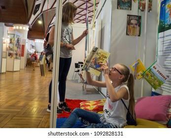 PRAGUE - MAY 10, 2018:  Book World Prague 2018 - 24rd International Book Fair and Literary Festival.