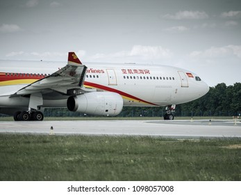 PRAGUE - MAY 21, 2018: Hainan airlines Airbus A330 at Vaclav Havel airport Prague (PRG) May 21, 2018 in Prague, Czech Republic.