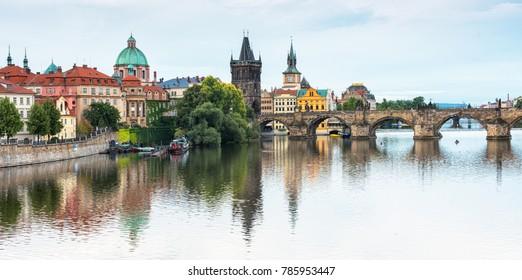 Prague in the morning