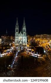 Prague - Namesti Miru - square, christmass markets