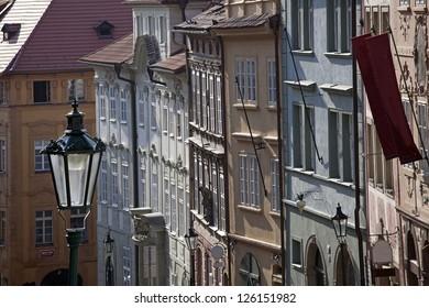 Prague - Neruda Street (Nerudova Ulice)  and Jansky Vrsek in Lesser Town - Shutterstock ID 126151982