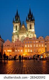 PRAGUE - NOV 13, 2012: Church of Our Lady before Tyn in Prague, Czech Republic.