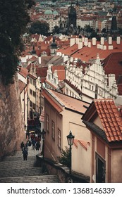 PRAGUE – OCT 8: Street view on October 8, 2016 in Prague, Czech Republic. Prague is the capital and largest city in Czech Republic with rich culture and history.