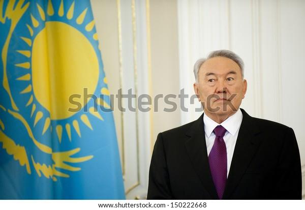PRAGUE - OCTOBER 23: Kazakh president Nursultan Nazarbajev during his visit in Prague, Czech republic, October 23, 2012