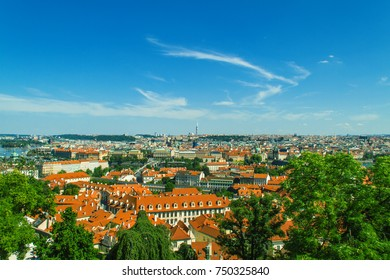 Prague old city panorama