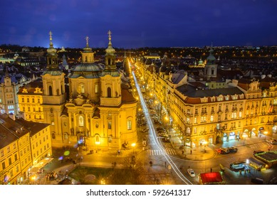 Prague old town from above