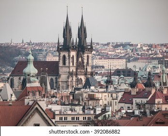 Prague Old Town with Church of Our Lady before Tyn