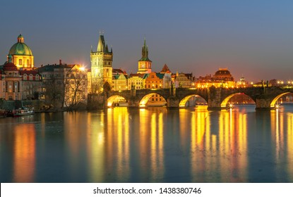 Prague old town city center skyline, Czech Republic