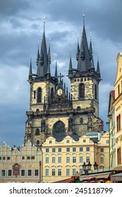 Prague, Old Town Hall (15th Century), Town Square and Church of our Lady Tyn (1365).