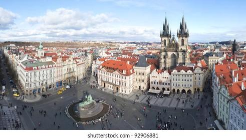 Prague, Old Town Square. Staromestske namesti